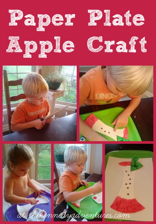 Paper Plate Apple Craft for Preschool and Toddlers #playfulpreschool