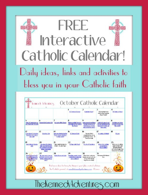 Catholic Family Calendar Activity october