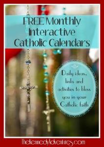 Catholic family calendar