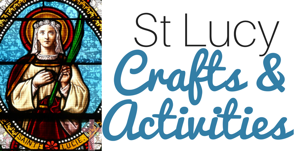 Looking for St Lucy crafts to enjoy with your children this Advent season? These are simple, but some of our favorites.