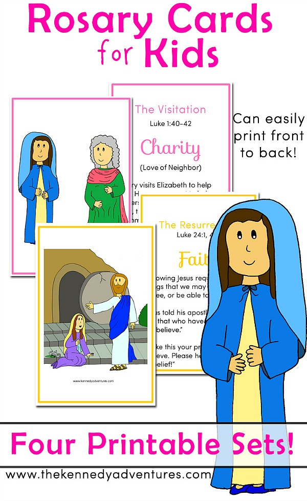 image regarding How to Pray the Rosary for Kids Printable named Printable Rosary Playing cards - Excellent for Declaring a Loved ones Rosary