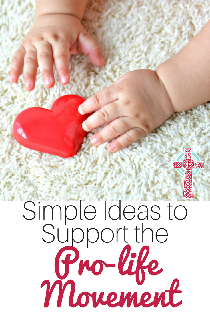 Want to support the prolife movement, but aren't sure how? Take a look at these ideas, perfect for busy moms.