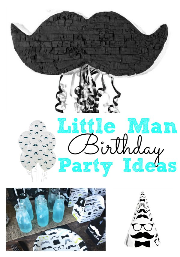 Little Man Birthday Party Ideas For Boys