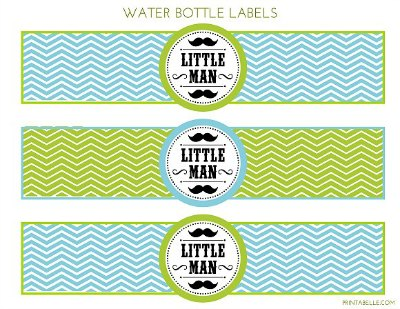 little man water bottle labels