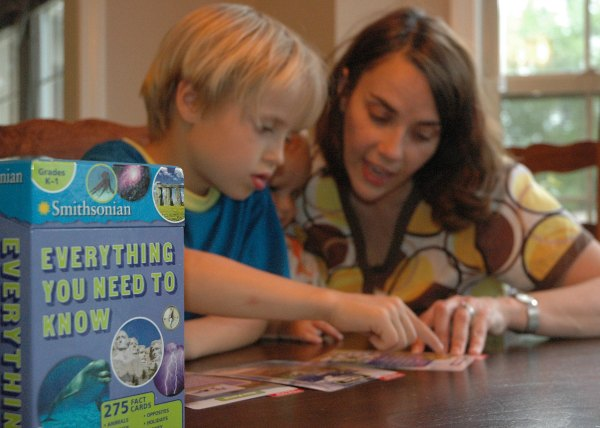 using fact cards in homeschool