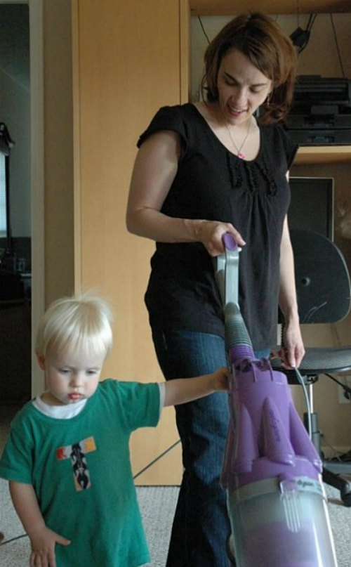 keeping house clean with kids