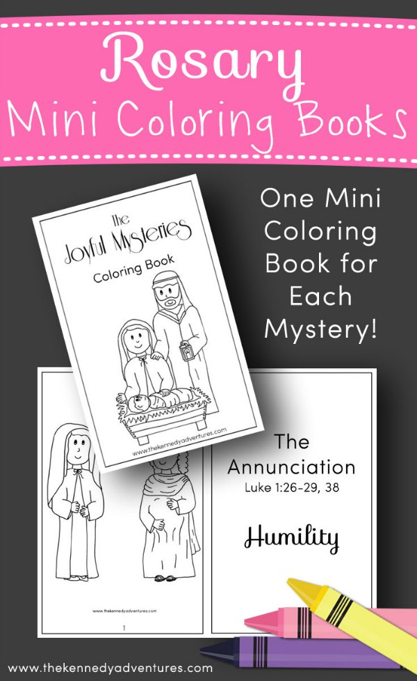 Rosary Coloring Book for Catholic Families