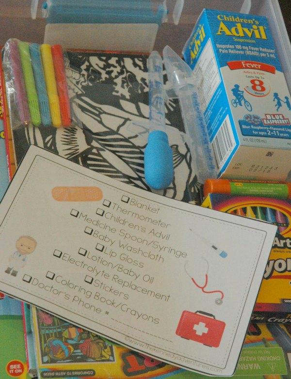 children's sick day kit 5 #fightfever
