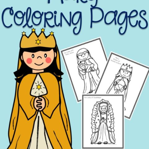 Mary coloring pages Catholic printables