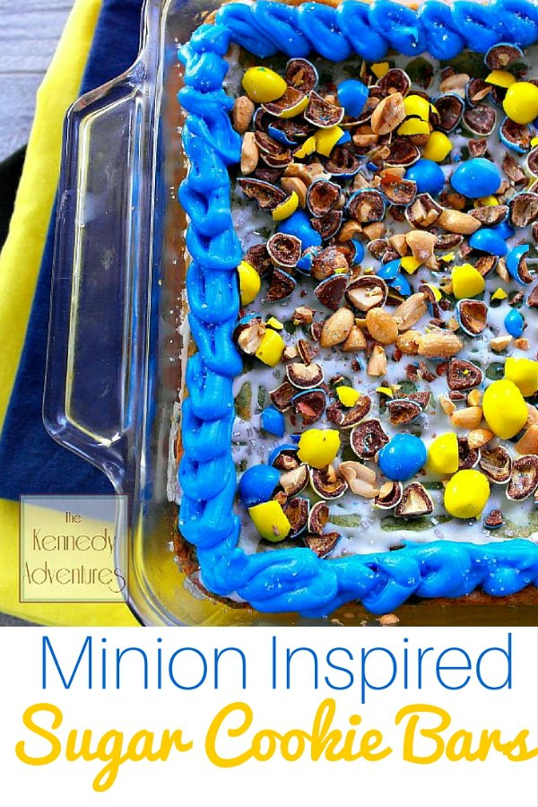 Minion inspired Sugar Cookie Bars
