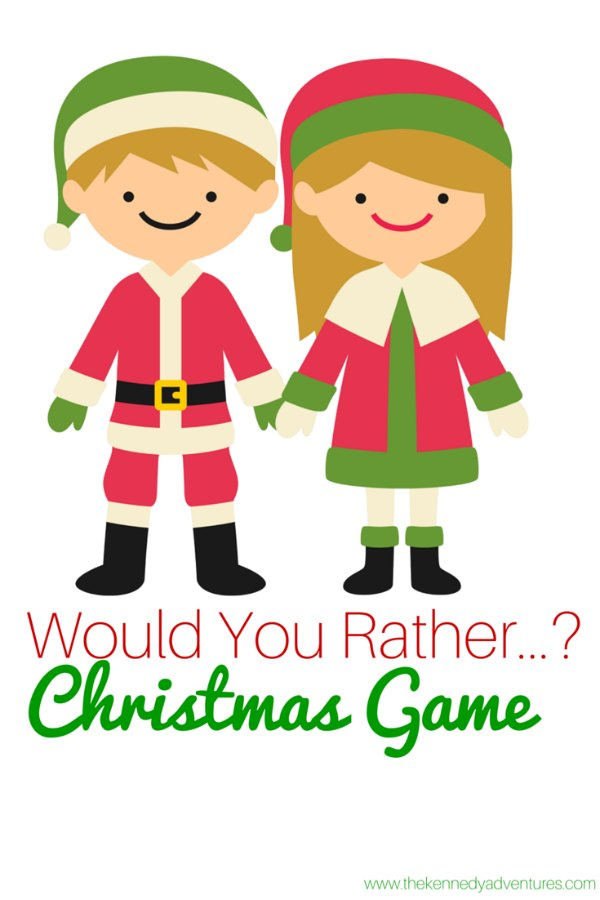 would you rather Christmas game free printable
