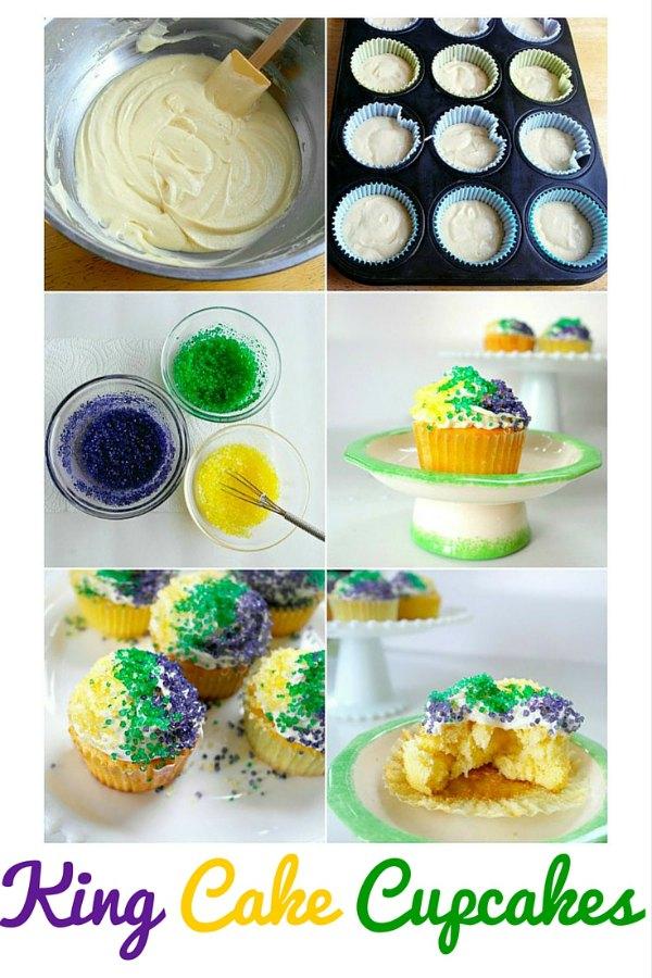 pin 2 King Cake Cupcakes