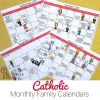 Make living liturgically easier with these printable Catholic Calendars.