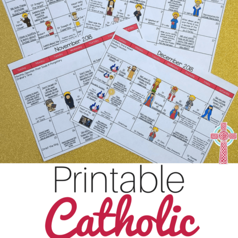 Trying to live the liturgical year with your children? Pick up these FREE Catholic Family Calendar printables and make your life a little simpler.
