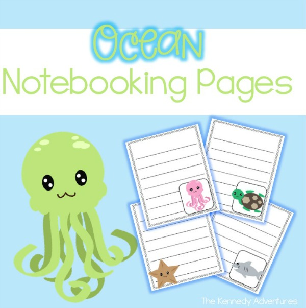 ocean notebooking pages