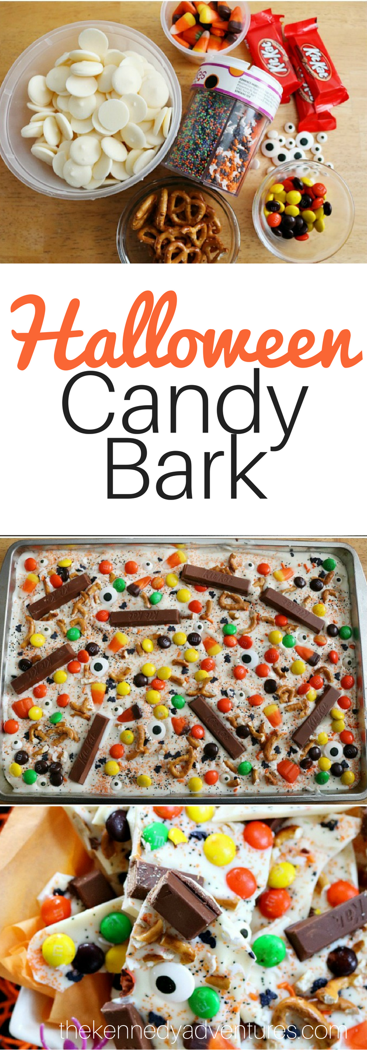 Halloween candy bark - perfect for your next spooky party!