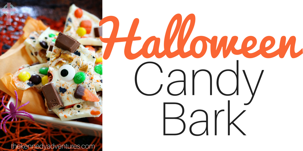 Halloween Candy Bark -- perfect for enjoying with your family or taking to a party!