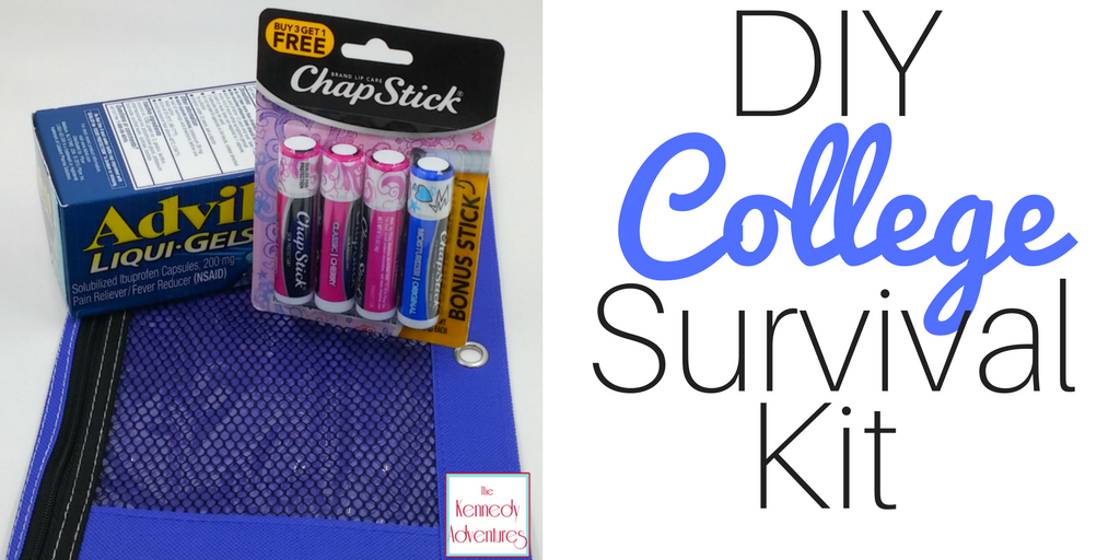 College Survival Kit -- make sure your college students are taking care of themselves with this easy DIY Kit! #Healthy4School