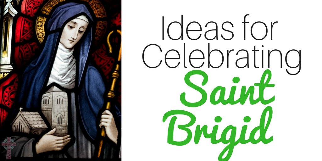 Looking for ideas to help you celebrate Saint Brigid? You'll find crafts, books, recipes, printables and more! Perfect for Catholic families!