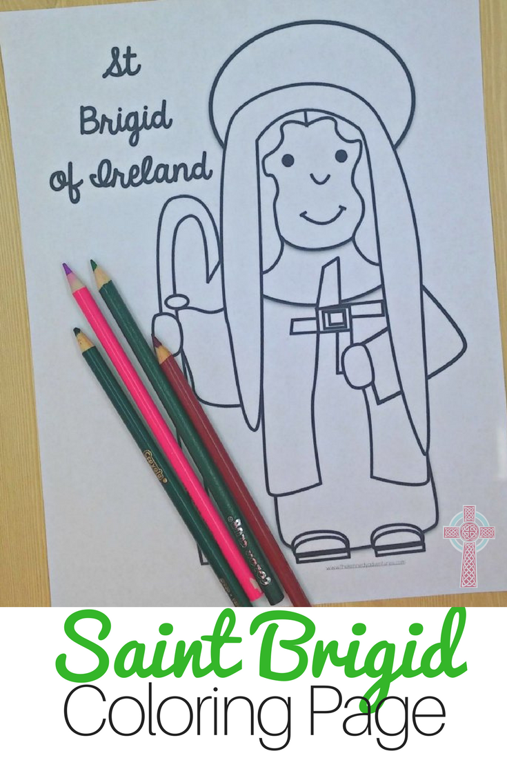 Celebrating Saint Brigid? You need this coloring page for your home or classroom. Perfect for Catholic families.