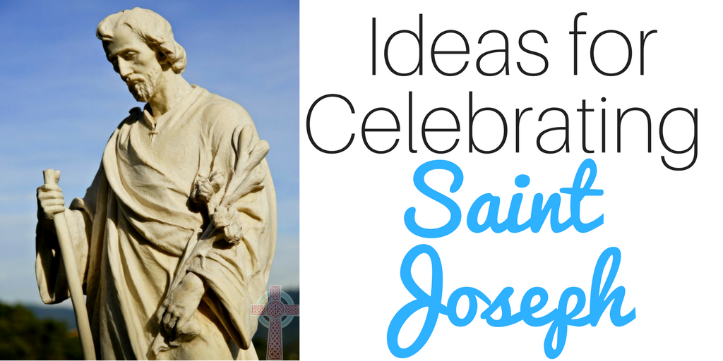 Looking for ways to celebrate Saint Joseph in your home? These ideas (books, crafts, recipes, activities and more) are perfect for Catholic families, co-ops, or religious education classes.