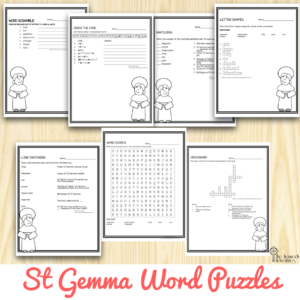 St Gemma Word Puzzles
