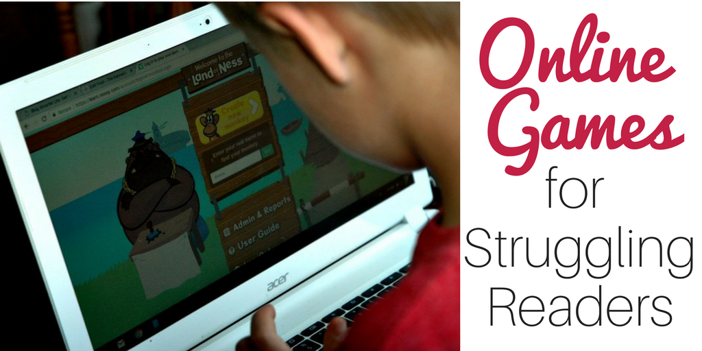 Looking for Online Games for Struggling Readers? Hop over and see how we use online games to increase reading fluency.