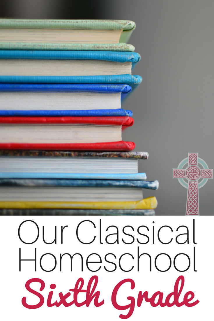 Looking for a classical Christian curriculum for your homeschool? We're heading into sixth grade -- come and take a look at our middle school choices.