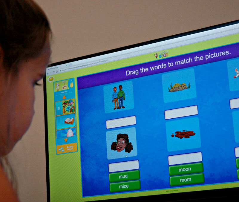 We reinforce our curriculum with online reading games covering phonics in Reading Eggs. Click over for a FREE trial for your family.