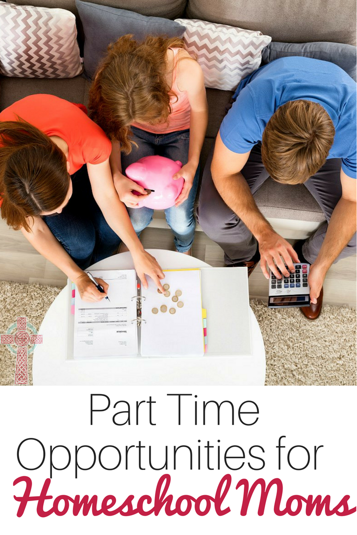 Homeschool Moms, do you need to make money part time to supplement your budget? Don't miss these ideas.