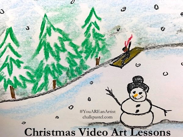 Want to add fun to your Advent plans? Try these chalk pastel Christmas lessons on for size.