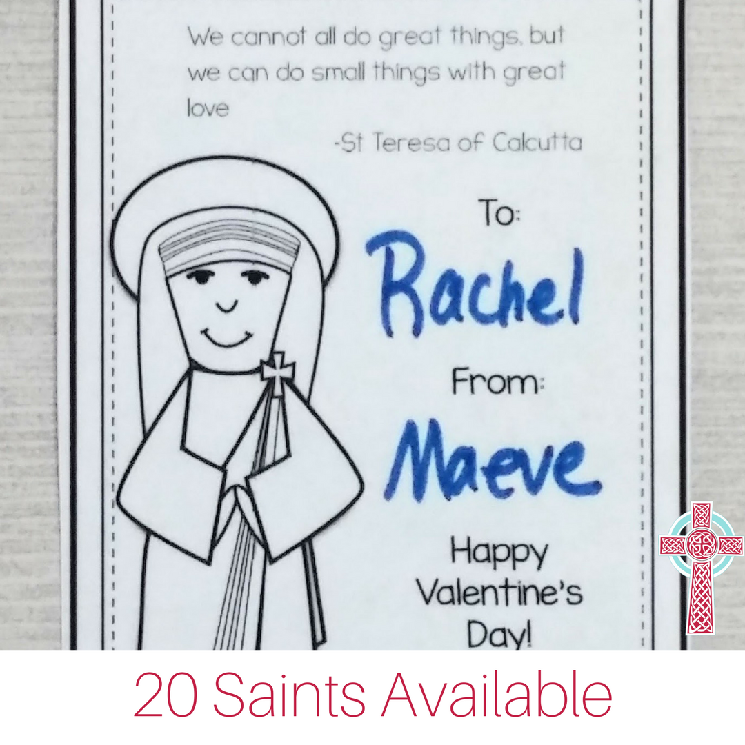 These printable Catholic Valentines are perfect for homeschoolers, Catholic students and more!