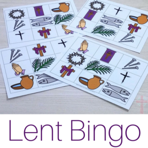 Lent Bingo for Catholic Kids