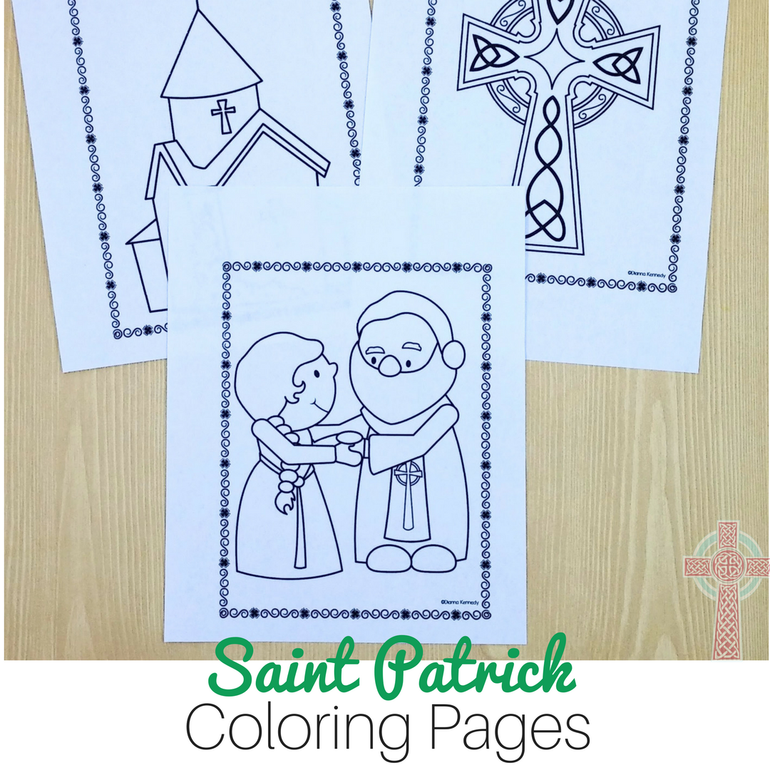 saint patrick coloring pages for catholic kids