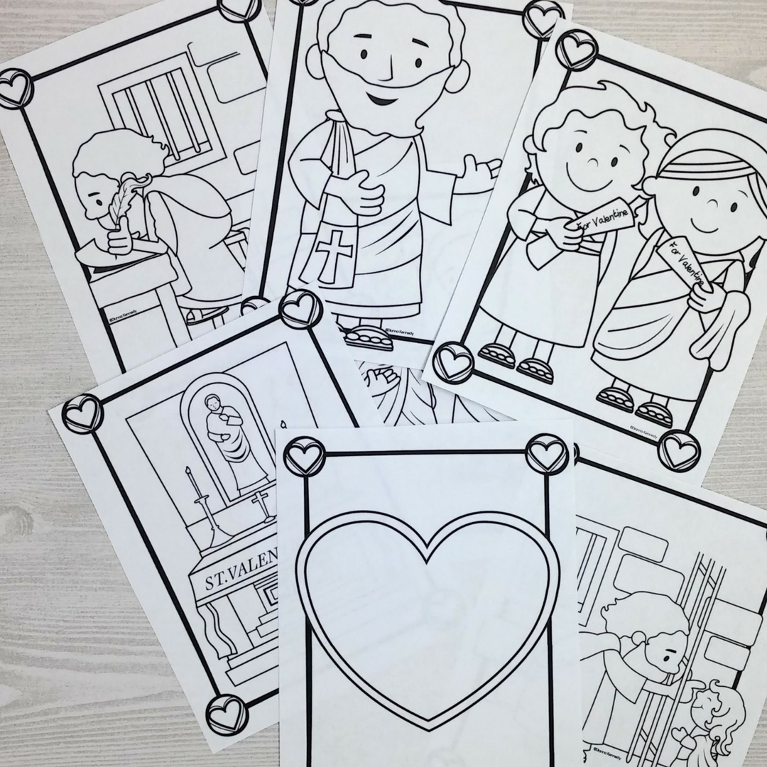 Saint Valentine Coloring Pages for Catholic Kids - The Kennedy ...