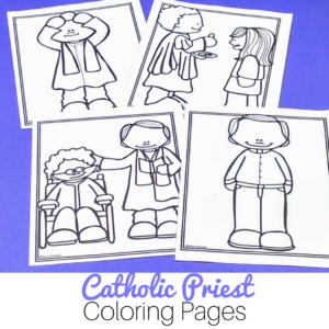 The perfect no prep activity for Catholic classrooms -- use these Catholic priest coloring pages to help teach about vocations.