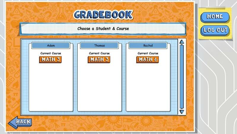 I love that all of my homeschool math grades are all in one simple parent dashboard.