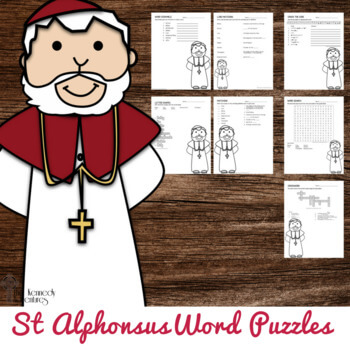 St Alphonsus Liguori Word Puzzles for Catholic kids