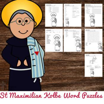 St Maximilian Kolbe Word Puzzles
