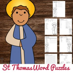 St Thomas the Apostle Word Puzzle