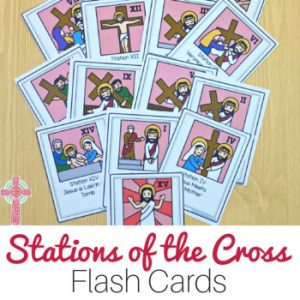 Stations of the Cross flash cards for Catholic children