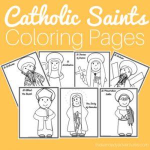 Catholic Saints Coloring Pages