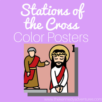 Stations of the Cross Color Posters