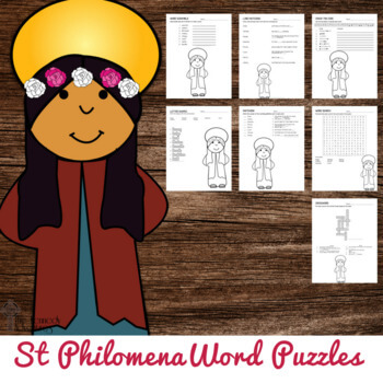 Saint Philomena Word Puzzles #CatholicPrintables