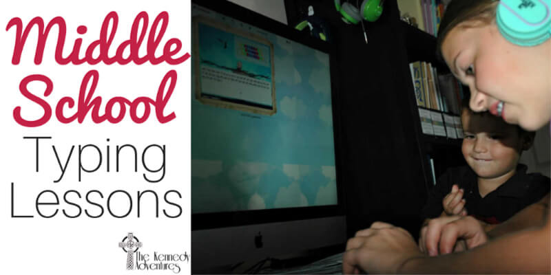 Middle School Typing Lessons for homeschoolers