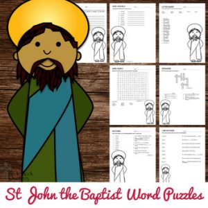 St John the Baptist Word Puzzles
