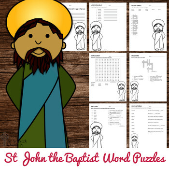 St John the Baptist Word Puzzles