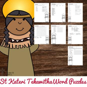 St Kateri Tekawitha Word Puzzles