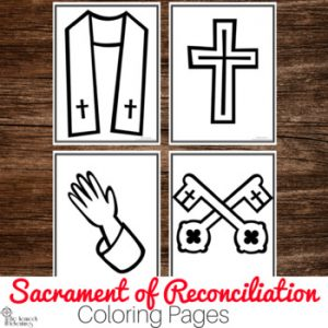 Reconciliation coloring pages