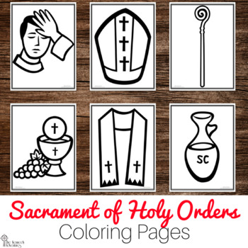 Catholic Sacraments: Holy Orders Coloring Pages